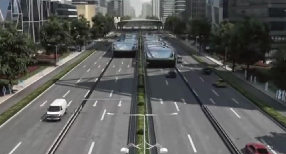 চীনে চালু হতে যাচ্ছে স্ট্র্যাডলিং বাস, চলবে রাস্তা দখল না করেই